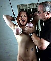 Suffering Aylas Breast Caning